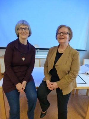 Kuvassa vasemmalla Seija Routimo ja oikealla Maria Haavisto.
